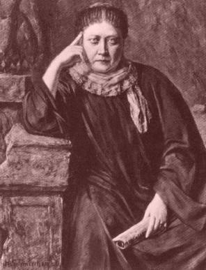 HP Blavatsky in 1884 (as painted by Hermann Schmiechen)