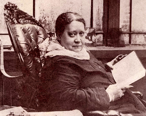 "H.P. Blavatsky in 1887, London, ""Maycot"""